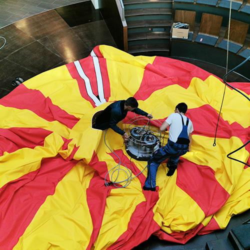 Bericht von Augsburg Aktuell zum Austausch des Lüttgendorf-Ballons